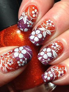 Orange and Purple for AiS Challenge - Canadian Nail Fanatic