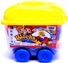 50 Piece Block On Wheels Building Set Kids Safety, Problem Solving, Your Child, 50th, Wheels, Learning, Toys, Children, Building