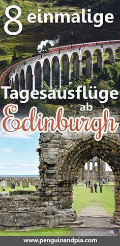 Tagesausflüge ab Edinburgh gibt es einige. Sie sind eine gro�artige Möglichkeit, um mehr von Schottland zu sehen. Von den schottischen Highlands und Loch Ness bis hin zur Harry Potter Brücke - diese einmaligen Tagesausflüge von Edinburgh lohnen sich wirkl