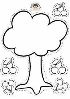 Professora Juce: Árvore de papel na Educação Infantil Preschool Writing, Preschool Learning Activities, Toddler Learning, Preschool Worksheets, Toddler Activities, Preschool Activities, Cutting Activities, Classroom Crafts, Kids Education