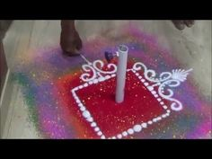 Small rangoli designs Creative Rangoli Design - YouTube