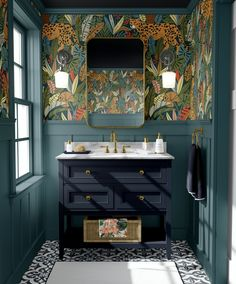 Small Downstairs Toilet, Small Toilet Room, Downstairs Bathroom, Laundry In Bathroom, Bathroom Mural, Bathroom Renos, Toilet Room Decor, Bathroom Interior Design, Eclectic Bathroom
