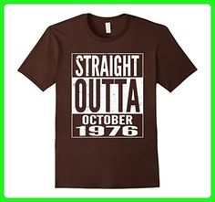 Mens October 1976 41th Birthday Gifts 41 Years Old Bday T-shirt XL Brown - Birthday shirts (*Amazon Partner-Link)
