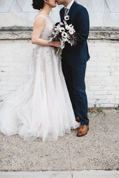 Modern + industrial winter wedding: http://www.stylemepretty.com/new-york-weddings/new-york-city/queens/2016/03/14/rustic-winter-wedding-at-the-metropolitan-building/   Photography: Clement and West - http://www.clementandwest.com/: