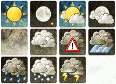 Gray retro nostalgic style of the 11 weather icons