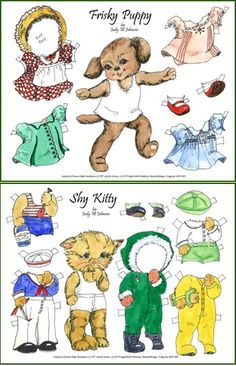 JMJ PD- Fisky Puppy, Shy Kitten 2 pg set