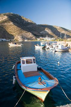 Greece. Sifnos Island, Vathi Harbor