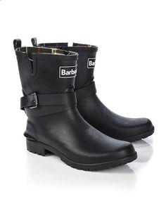 Barbour | Biker Style Buckle Wellington Boots | $95