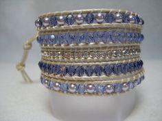 WRAP  BRACELET,  Beaded Wrap Bracelet, Swarovski Bracelet,  Crystal and Pearl Wrap Bracelet