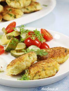 Kotlety z kalafiora. Cauliflower Patties, Veggies, Menu, Chicken, Recipes, Dinners, Food, Diet, Dish
