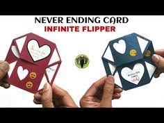 Handmade Never Ending Card Tutorial Cards Diy, 3d Cards, Pop Up Cards, Fancy Fold Cards, Folded Cards, Infinity Card, Never Ending Card, Japanese Gifts, Birthday Cards