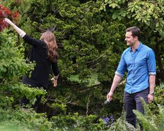 Jamie Dornan as Christian Grey and Dakota Johnson as Anastasia Steele filming Fifty Shades Darker & Freed http://www.everythingjamiedornan.com/cpg/displayimage.php?album=lastup&cat=0&pid=23480#top_display_media
