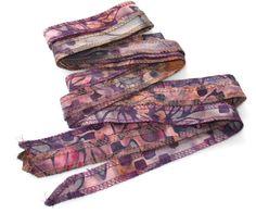 Pink and Purple Hand Dyed Artisan Cotton Batik Serged by urbanraku