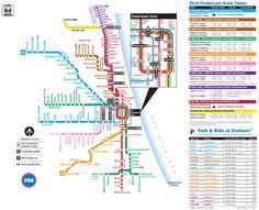 Metro de Chicago / Chicago subway #infografia #infographic #maps
