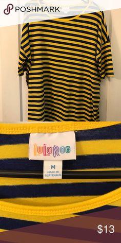 6e1fb3ea Blue and yellow stripped Irma LulaRoe Irma size medium. Only worn once or  twice LuLaRoe