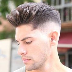 The drop fade haircut is a modern version of the popular classic fade. Just like the name implies, the drop fade haircut is cut low behind the ears, Drop Fade Haircut, Quiff Haircut, Quiff Hairstyles, My Hairstyle, Hipster Haircuts For Men, Hipster Hairstyles, Cool Hairstyles For Men, Cool Haircuts, Men's Haircuts