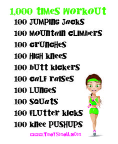 1000 times workout - extreme exercise circuit to get you in shape fast. Challenge yourself with this intense workout.