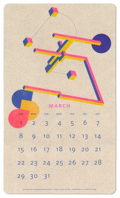 Isometric Risograph  from http://paperpusher.ca/products/risograph-calendar