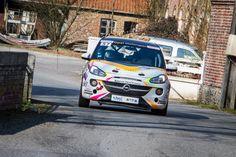 L'Opel en action au Rallye du Touquet