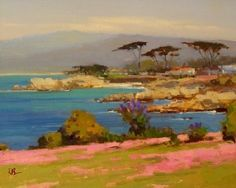 Emerald Waters, Pacific Grove by Brian Blood Oil ~ 11 x 14