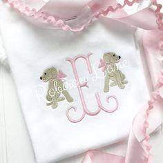 Robison Lane Designs by RobisonLaneDesigns Baby Girl Embroidery Ideas, Baby Embroidery, Embroidery Monogram, Shirt Embroidery, Applique Embroidery Designs, Monogram Onesies, Monogram Fonts, Free Monogram, Monogram Letters