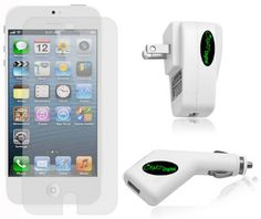 Charger Kit and Screen Protector for iPhone 5
