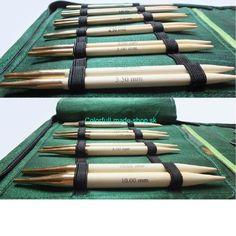 GRÜNDL   KnitPro Bamboo Deluxe - sada vymieňateľných ihlíc   ColorfulLmadeshop