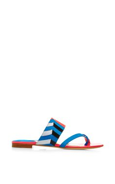 Nyla Suede and Patent-Leather Sandals by Paul Andrew Now Available on Moda Operandi
