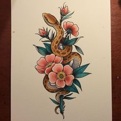 Weekend gone again #snake #watercolour