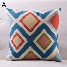 Colorful geometric diamond abstract inexpensive throw pillows for couch