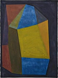SOL LEWITT  Complex Form with Colors Superimposed,1988 Gouache on paper.30 x 22 in.