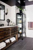 Black and White Subway Tile Bathroom . 30 Amazing Black and White Subway Tile Bathroom . Black and White Tile Bathroom Decorating Ideas New Mid Century Bathroom Renos, Basement Bathroom, Bathroom Ideas, Bathroom Vanities, Bathroom Designs, Bathroom Renovations, Bathroom Storage, Bathroom Furniture, Bathroom Cabinets