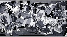 Picasso's Guernica, now featuring the X-Men. By Cynthia Rodgers.
