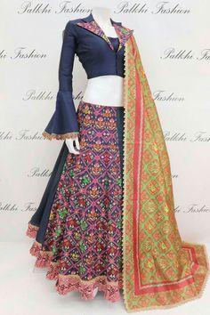 404 Error Page - Palkhi Fashion Trendy Chaniya Choli Set With Beautiful Patola Designs Indian Designer Outfits, Indian Outfits, Designer Dresses, Designer Lehanga, Hi Fashion, Indian Fashion, Fashion Outfits, Choli Designs, Lehenga Designs