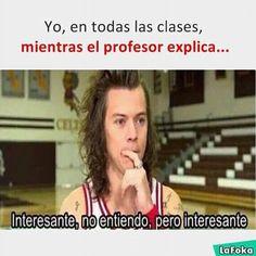 Yo en todas las clases cuando el profesor explica... | Harry