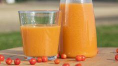 Gulrotsaft med rognebær og epler - Smak gulrotdrikken til med honning og eddik hvis du trenger mer sødme eller syre. Fra tv-serien En smak av Danmark.