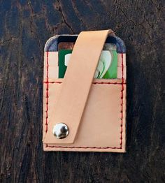 Leather Card Wallet / montrose leather works