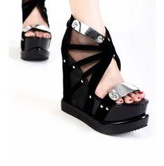 Fashion Cyber Goth Wedge