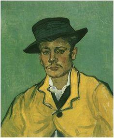 Portrait of Armand Roulin Vincent Van Gogh  Painting, Oil on Canvas  Arles: November-December, 1888