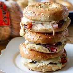 Thomas Recipe: Baked Ham and Turkey Everything Bagel Sandwiches