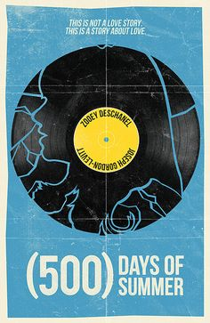 (500) Days of Summer movie poster by Bill Pyle, via Flickr