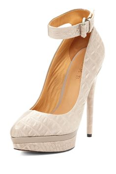L.A.M.B. Ofelia Ankle Strap Platform Pump. I need thesd because my ankle is so thin