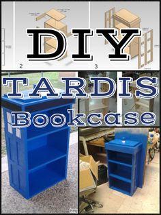 DIY Tardis Bookcase!!! Http://www.alantronics.me/