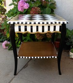 how to measure success: can i turn a funk into fuel? Whimsical Painted Furniture, Painted Chairs, Hand Painted Furniture, Funky Furniture, Paint Furniture, Repurposed Furniture, Furniture Projects, Furniture Makeover, Furniture Decor
