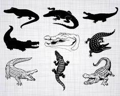Alligator Tattoo, Krokodil Tattoo, Patterned Paint Rollers, Crocodile Skin, Crocodile Cartoon, Silhouette Tattoos, Diy Painting, Clipart, Small Tattoos