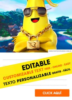 Free FORTNITE birthday invitations for edit, customize, print or send via Whatsapp Editable Birthday Cards, Free Birthday Invitation Templates, Personalized Birthday Cards, Personalized Invitations, Birthday Party Invitations, Online Invitation Maker, Online Invitations, Battle Royale, Special Guest