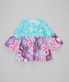 Look at this #zulilyfind! Blue & Fuchsia Retro Ikat Top - Infant, Toddler & Girls by Flap Happy #zulilyfinds