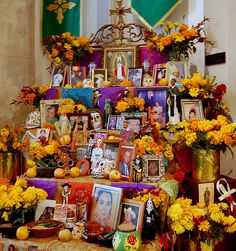 Altar de muertos. Day of the dead altar