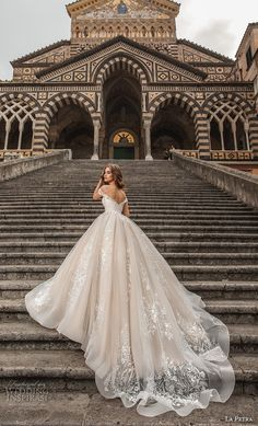"Petra 2019 Wedding Dresses — ""Amalfi"" Bridal Collection la petra 2019 bridal off the shoulder deep plunging sweetheart neckline full embellishment romantic princess blush ball gown a line wedding dress royal train bv -- La Petra 2019 Wedding Dresses Handmade Wedding Dresses, Custom Wedding Dress, Wedding Dress Trends, Princess Wedding Dresses, Dream Wedding Dresses, Designer Wedding Dresses, Bridal Dresses, Ball Gown Wedding Dresses, Wedding Ideas"