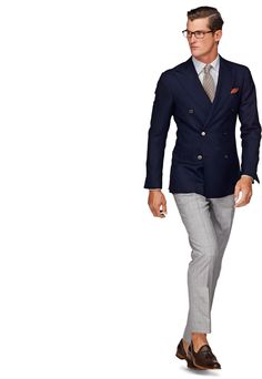 Love double breasted suits, too bad I don't have one :P Mens Fashion Suits, Mens Suits, Suit Men, Mode Stage, Suit Supply, Mein Style, Herren Outfit, Tailored Jacket, Double Breasted Blazer